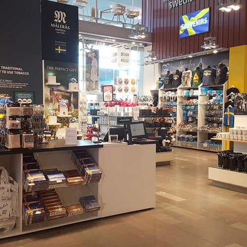 Project Management tienda aeropuerto arlanda estocolmo nuance
