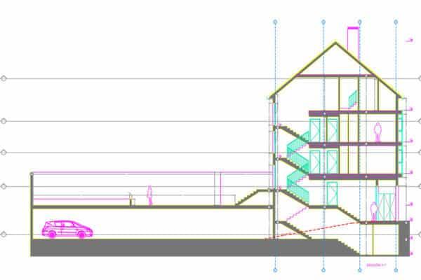 proyecto de nueva planta de edificio residencial