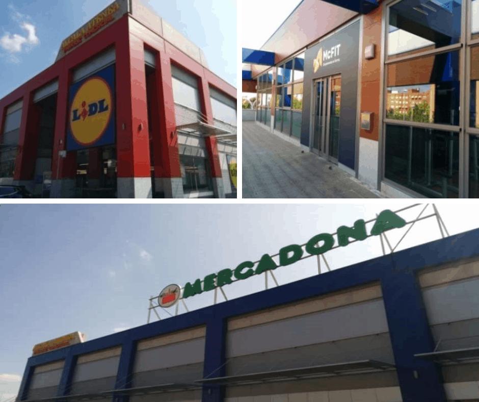 Mercadona, Lidl y gimnasio McFit, tres locales en el Centro comercial Alcalá Atenea